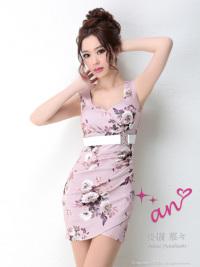 AOC-2473   Pink×IvoryFlowerPrint